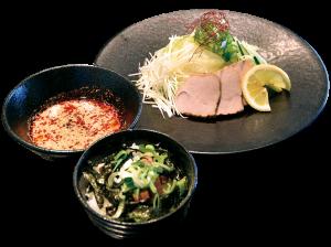 平日限定ランチセット 1000円(税別) つけ麺+炙りチャーシュー丼(小)